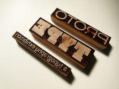 Laser-cut wood blocks for letterpress printing – Experiment No. 2 by typoretum, via Flickr