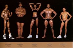Striking side-by-side comparisons of athletes' body types | HellaWella