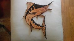 Swordfish Wood Plaque by BMoreSouthern on Etsy