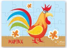 Παζλ Κόκορας Personalized Puzzles, Tweety, Rooster, Animals, Fictional Characters, Art, Art Background, Animales, Animaux