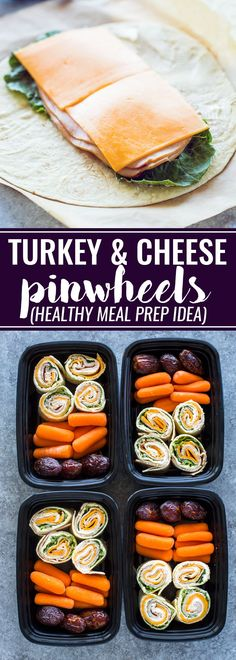 Turkey cheese lettuce and cream cheese rolled up in tortillas and cut into bite size pinwheels. Turkey cheese lettuce and cream cheese rolled up in tortillas and cut into bite size pinwheels. Lunch Meal Prep, Healthy Meal Prep, Easy Healthy Recipes, Healthy Snacks, Easy Meals, Meal Prep Cheap, Meal Prep Breakfast, Cheap Recipes, Kids Meals