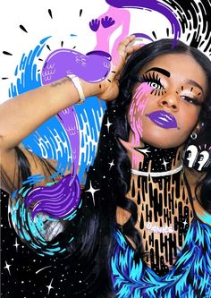 UK: PHOTOGRAPHY: JAM SUTTON Featuring Azealia Banks and illustration by Hattie Stewart