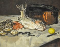 Edouard Manet -   Fish (Still Life), 1864 at Art Institute of Chicago IL
