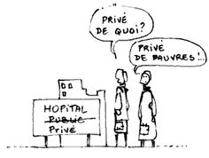 Economie de la Santé, Hôpital privé, Humour, Illustration, Dessin, Hôpital
