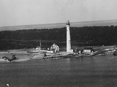 The old Cape Charles Light Station. Smith Island, VA.
