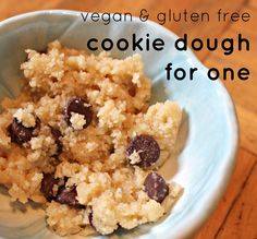 Vegan & Gluten Free Cookie Dough For One