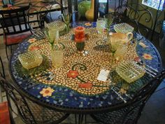 "Table Top from ""Custom Mosaic Tile"""