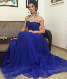 Backless Prom Dresses,Open Back Prom Gowns,Royal Blue Prom Dresses 2018,2018 Prom Dresses,Chiffon Open Backs Prom Gown,Fitted Prom Dress PD20183968