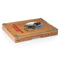 Picnic Time Arizona Cardinals Concerto Bamboo Cutting Board and Cheese Tools Set, Brown