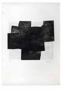 Eduardo Chillida - Gaur 1972 Aqua tint, ed. Art And Illustration, Illustrations, Modern Art, Contemporary Art, Inspiration Art, Art Abstrait, Art Design, Painting & Drawing, Printmaking