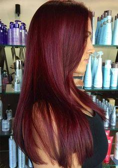 11 Auburn Red Haarfarbe Ideen 2017 – Haar und beauty – 11 Auburn Red Hair Color Ideas 2017 – Hair and Beauty – Color Pelo Color Vino, Pelo Color Borgoña, Color Red, Maroon Colour, Dark Colors, Violet Hair Colors, Red Violet Hair, Red Hair With Purple, Brown Hair Dyed Red