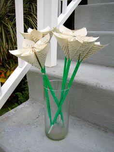 Single paper flowers