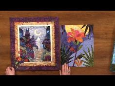Karen Gillis Taylor shows you several examples of beautiful art quilts while teaching you how to design and create your own art quilts. Quilting Tutorials, Quilting Projects, Quilting Designs, Art Quilting, Quilt Art, Quilting Ideas, Fabric Painting, Fabric Art, Landscape Art Quilts