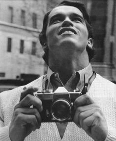 Arnold Schwarzenegger in New York for the first time in 1968.