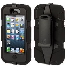 "Griffin ""Survivor"" Military-Duty Case & Belt Clip for iPhone 5 Mobile Cases, Mobile Phones, Lcd Monitor, Iphone Accessories, Iphone Se, Apple Iphone, Ipod Touch, Multimedia, Cell Phone Cases"