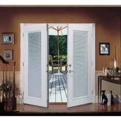 Shop ReliaBilt® 6u0027 ReliaBilt French Patio Door Steel Blinds Between The  Glass Tilt And