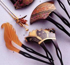 Vintage hair comb Japanese kanzashi geisha hair by ElrondsEmporium