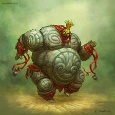 Golems - Concept art by Ketka by Maria Trepalina, via Behance