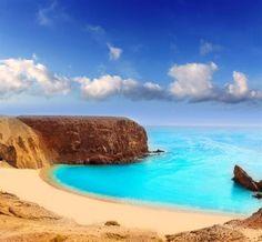 Lanzarote, Papagayo - îles Canaries (Espagne) plage paradisiaque                                                                                                                                                                                 Plus