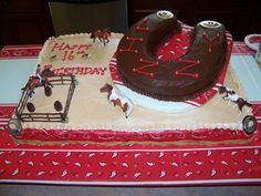 Barrel Racing Birthday Cake
