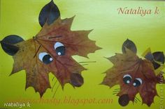 coyotes made out of leaves... how cute!