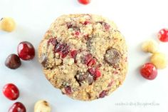 Toasted Hazelnut Cranberry Chocolate Chip Cookies (Grain-free, egg-free and dairy-free option) www.kateshealthycupboard.com