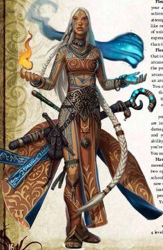 f Sorcerer Staff the art of Eric Belisle, Pathfinder Fantasy Women, Fantasy Rpg, Medieval Fantasy, Fantasy Artwork, Dnd Characters, Fantasy Characters, Female Characters, Character Creation, Character Art