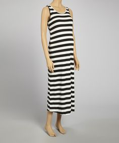 Take a look at the Mom & Co. Black & White Stripe Maternity Maxi Dress on #zulily today!
