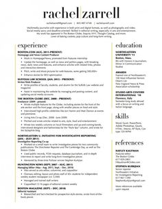 Beautiful resume layout, two-column.