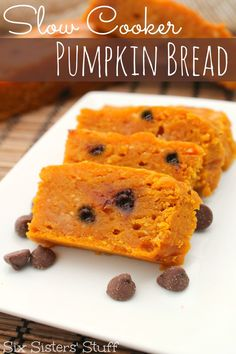 Slow Cooker Pumpkin Bread | Six Sisters' Stuff