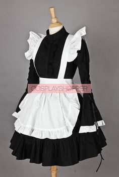 Long Sleeves Lovely Cotton Cosplay Maid Costume. Vestidos BonitosModa  AlternativaRopa KawaiiDisfracesVestuariosHermosaCosplay De MaidVestido  DelantalFalda ... b5758bedfd9e