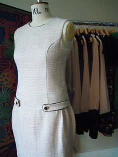 HEY HEY COMMUTERS check out the #handmade Blythe (Hill) Shift Dress in soft spring pastel tweed, fully lined in pink £80 xx