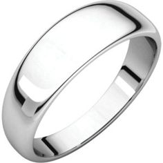HRT7 / 14kt White / 6 mm / Half Round Tapered Band