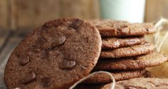 Double chocolate chip cookies made with kerrygold grass fed butter