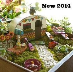 Ooh… we were thinking of doing a camping themed fairy garden this year!