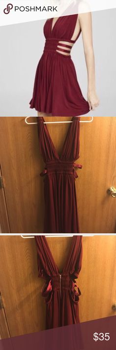 Express minidress Reddish maroon color, size medium, sexy but classy- so many compliments Express Dresses