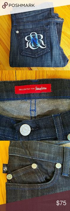 "Exclusive rock republic size 25 Kassandra cut size 25...nwot...exclusive cokor die for Neiman Marcus.. dark wash..33"" inseam...collector denim Rock & Republic Jeans Boot Cut"