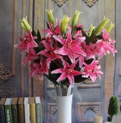 GNW FL-LY106-3-20CM High quality new products lily artificial silk flowers for wedding decoration