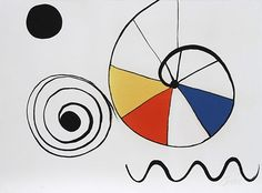 Alexander Calder - Spirale en Trois Coleurs, 1960