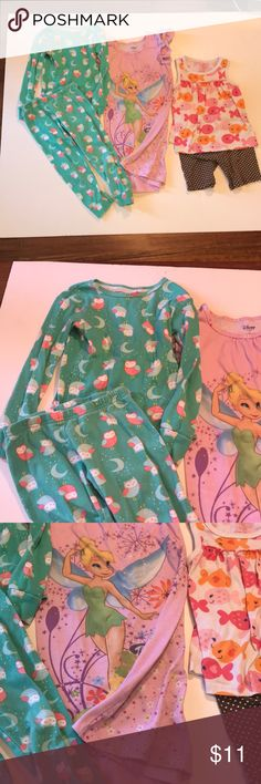 Girls Pajama Lot All in good used condition. Brands are Disney and Carter's. Disney and Carter's Pajamas