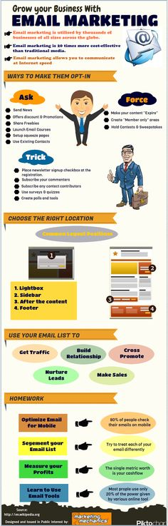 Grow your business with Email Marketing | Marketing Infographics