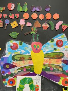 """One of my preschoolers favorite things is when I read stories with """"props"""". While reading the Hungry Caterpillar I used a sock for a pup. Art Therapy Activities, Book Activities, Preschool Books, Eric Carle, Hungry Caterpillar Party, Vintage Umbrella, Beautiful Wolves, Grunge Photography, Art Lessons"""
