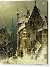 A Small Town In The Rhine Acrylic Print