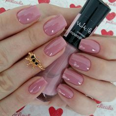 18 ideas nails design simple ongles for 2019 Cute Simple Nails, Perfect Nails, Pink Nail Art, Pink Nails, Love Nails, How To Do Nails, Style Nails, Cute Easy Nail Designs, Super Nails