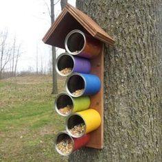 Tin Can Bird Feeder #homemadebirdhouses