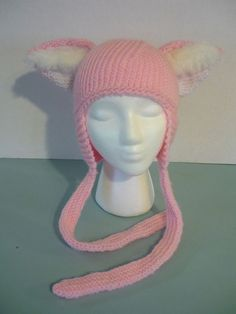 Animal Ear Hat - Pink Fox. $25.00, via Etsy.