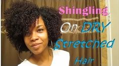 Shingling On Dry Stretched Hair Read the article here - http://www.blackhairinformation.com/general-articles/hairstyles-general-articles/shingling-dry-stretched-hair/ #naturalhairstyles
