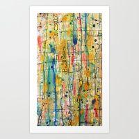 Art Print featuring vibratoire by sylvie demers