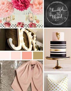 Pink and Gold Branding Mood Board