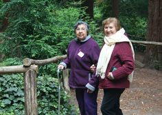 Spanish-speaking caregiver's retreat: A walk in the woods adds to the relaxation and de-stressing.